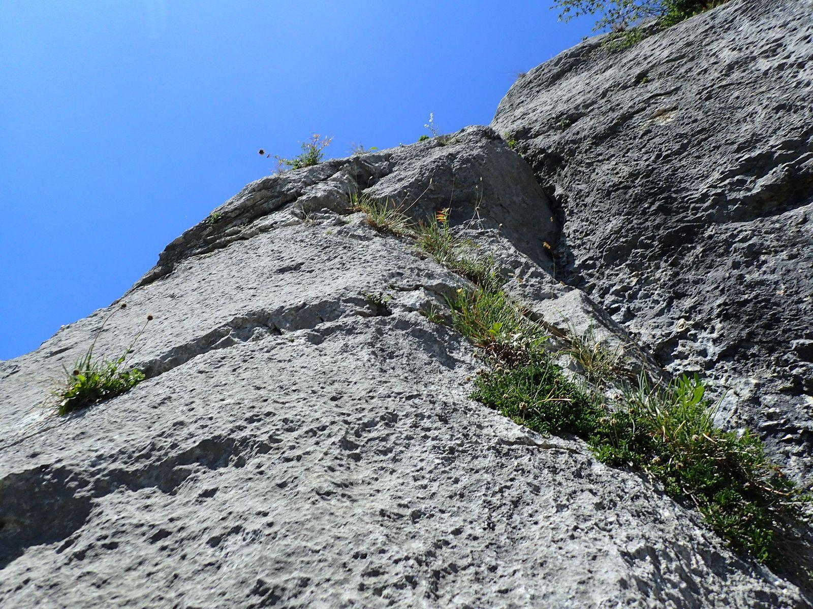 Falaise de la Balme de Sillingy : Secteur au dessus du Cimetière (Version 2)
