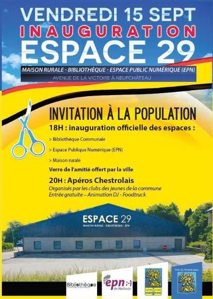 Inauguration de l'Espace 29