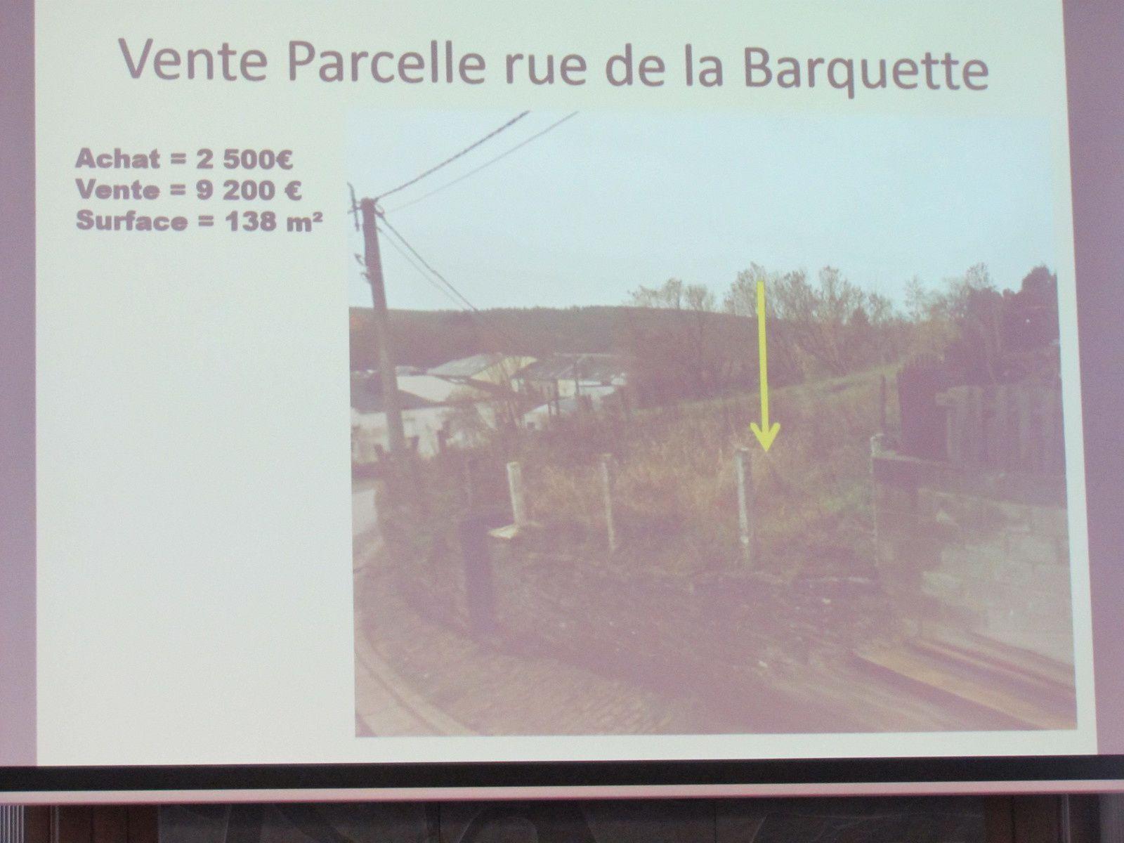 Vente parcelle rue de la Barquette