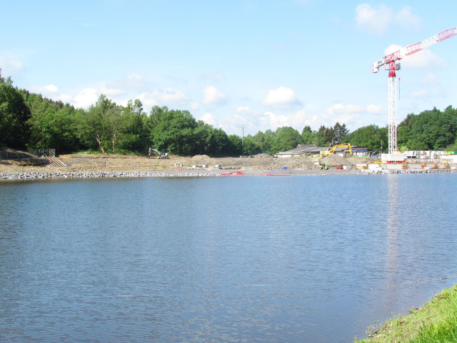 Les travaux au lac