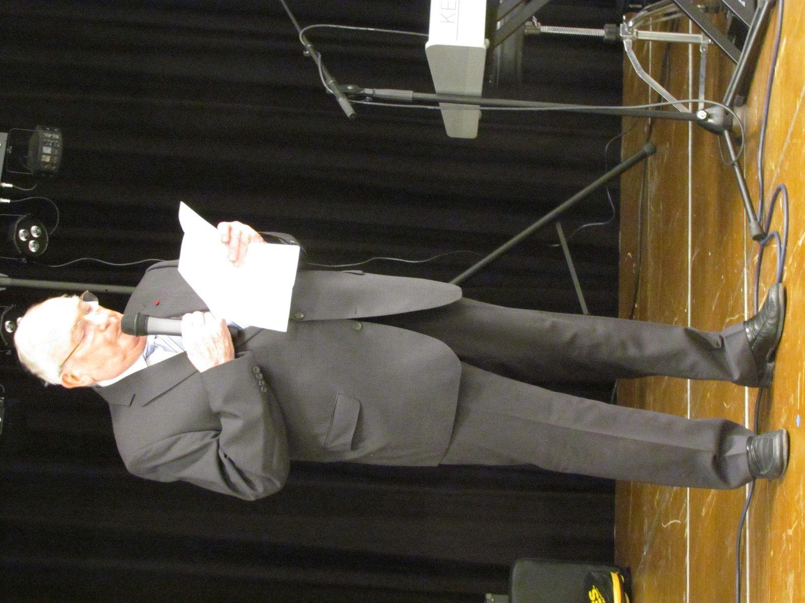 Allocution du président du CCCA,Yves Mathys
