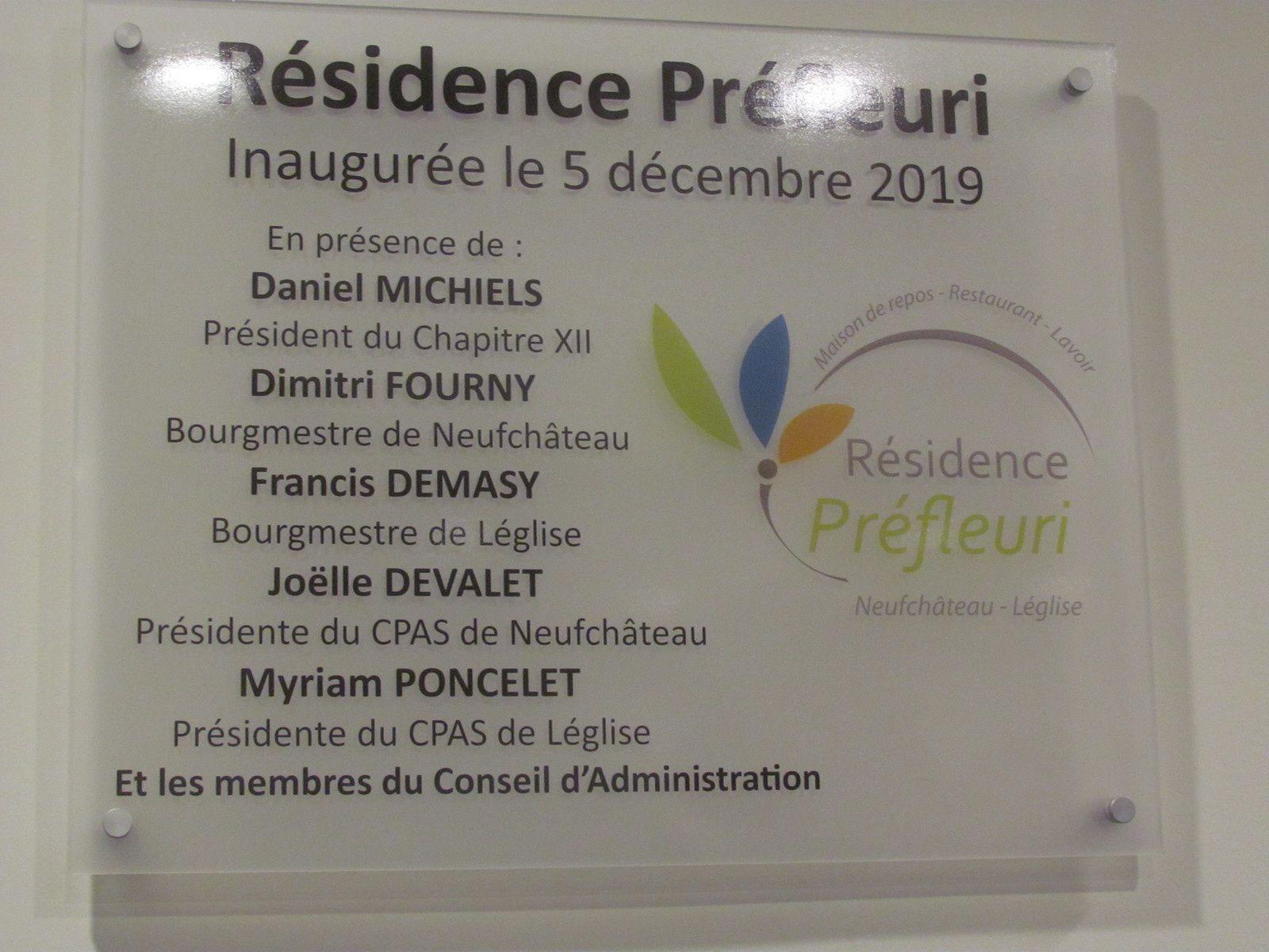 Les différents discours lors de l'inauguration de la résidence Préfleuri