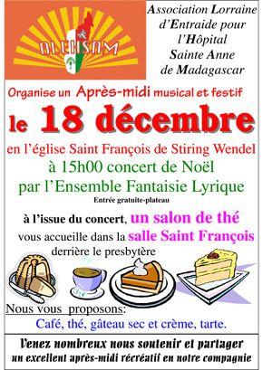 Concert à Stiring-Wendel au profit de l'hôpital Ste Anne