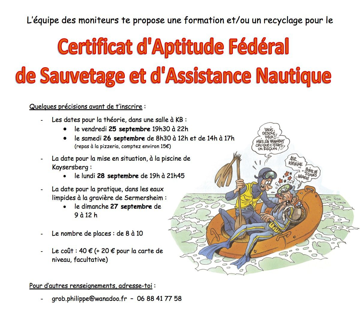 Formation et/ou recyclage CAFSAN