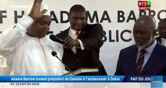 Adama Barrow investi