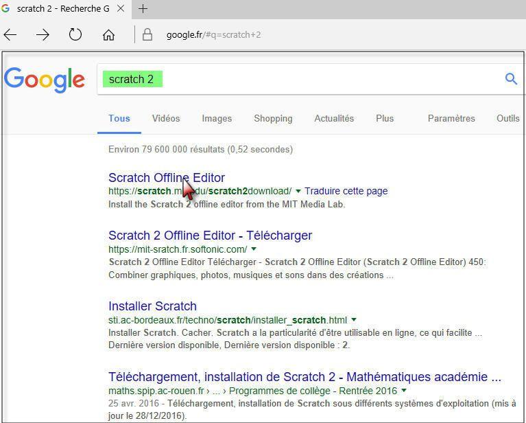 #Atelier Scratch : #Téléchargement
