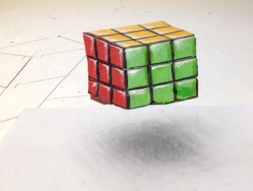 Comment dessiner un Rubik's cube 3D