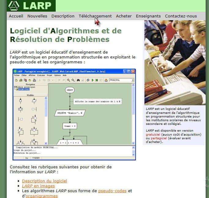 #Atelier Algorithmique : #Télechargement de Larp
