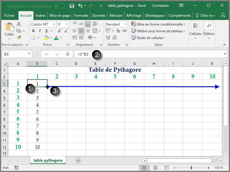 Apprendre à utiliser Excel comme un couteau suisse #5 : Table de Pythagore