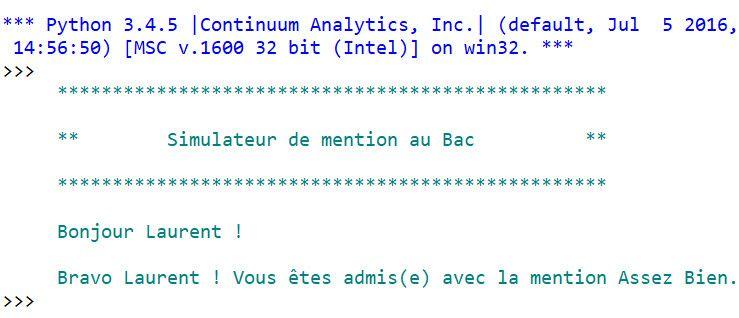 Atelier Pratique - Script #6 - Simulateur de mention au bac