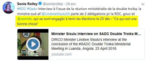 La ministre Sud-Africaine Sisulu