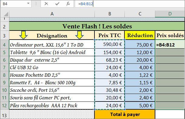 AP #5 : Fonction Somme (formule matricielle) - Éléments de réponse - Figure 3
