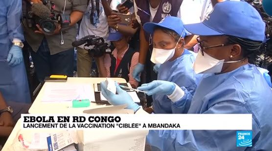 RDC : début de vaccination contre le virus Ébola
