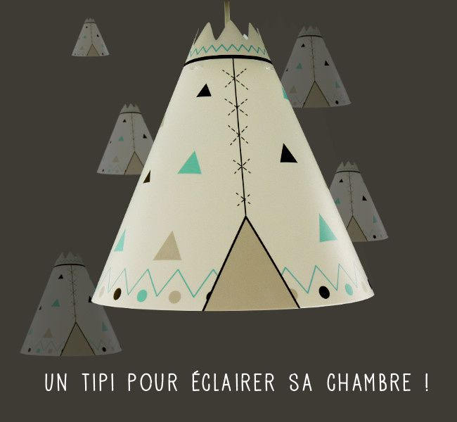 un tipi pour clairer sa chambre d 39 enfant lampe casse noisette luminaire chambre enfant. Black Bedroom Furniture Sets. Home Design Ideas