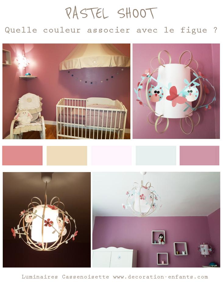 Suspension fille et Applique chambre bébé pastel