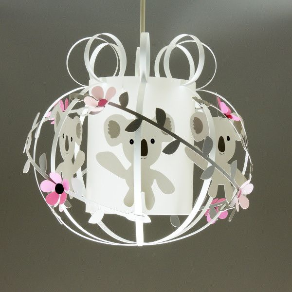 Suspension chambre fille rose et grise : Koala