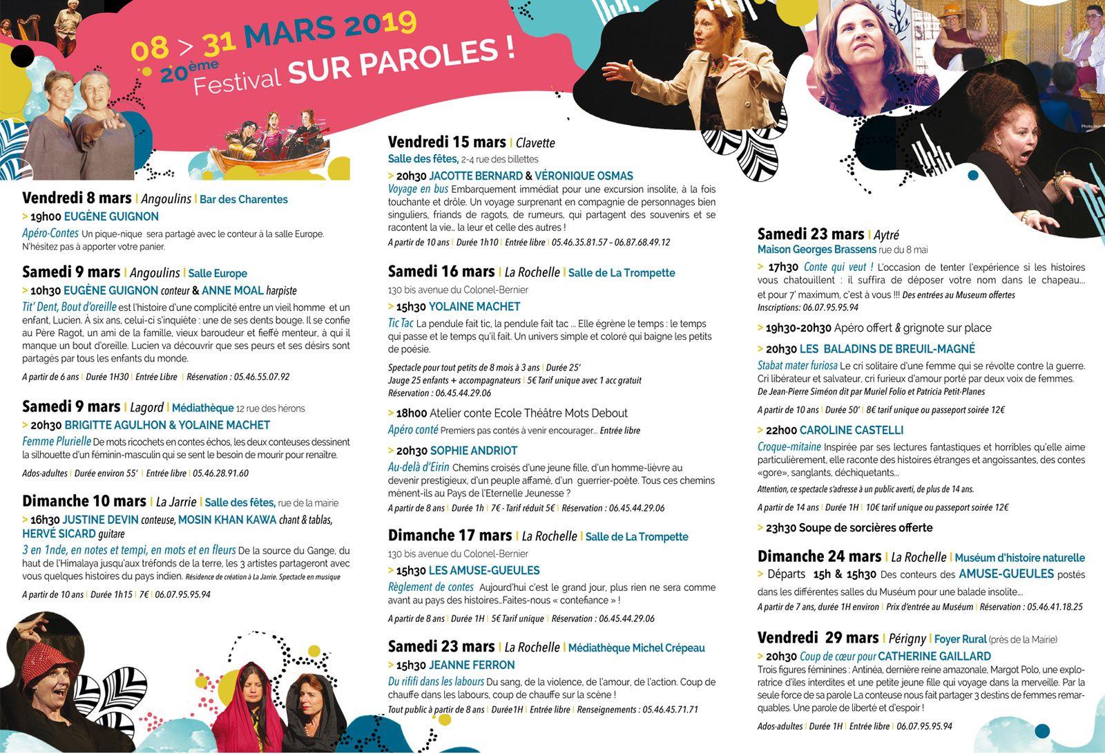 Festival sur parole - Les Amuses Gueules - La Rochelle