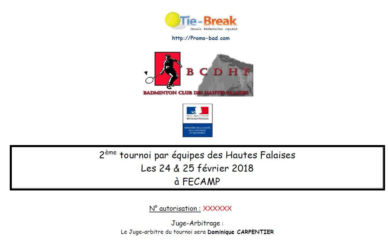 2de tournoi par équipe du Club Des Hautes Falaises