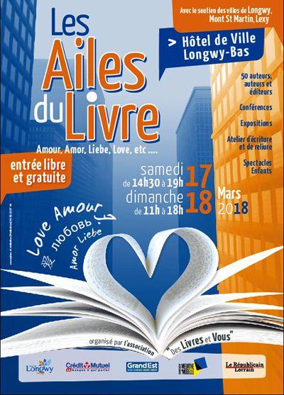Salon Les Ailes du Livre, à Longwy.