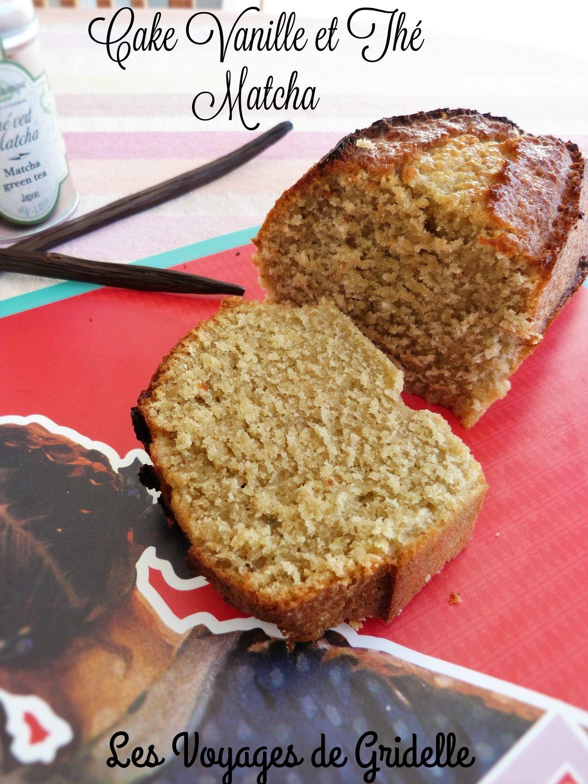 Cake à la Vanille et au Thé Matcha