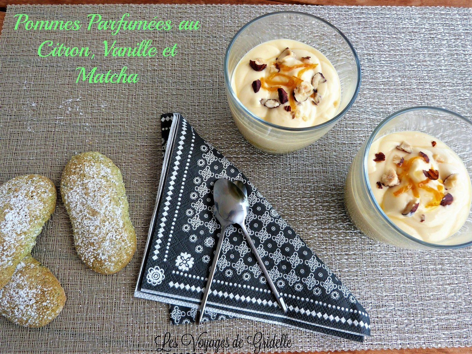 Pommes Parfumées au Citron, Vanille et Matcha