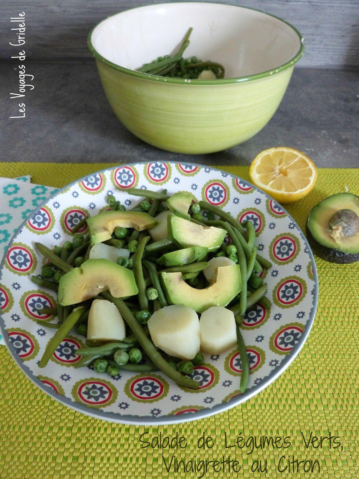 Salade de Légumes Verts, Vinaigrette au Citron