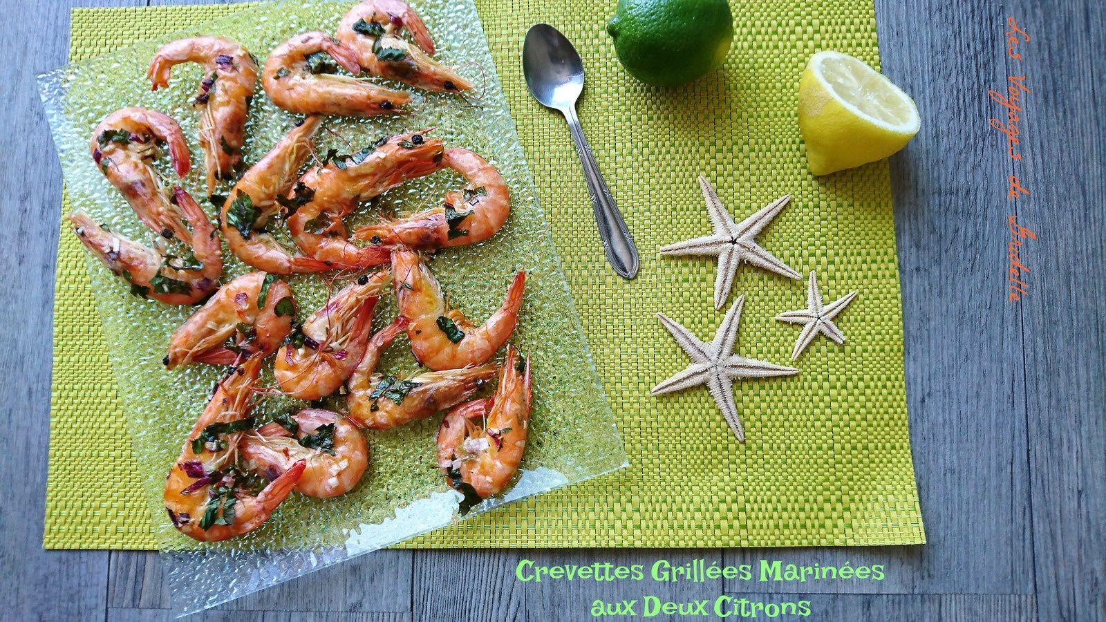 Crevettes Grillées Marinées aux Deux Citrons - Les Voyages de Gridelle