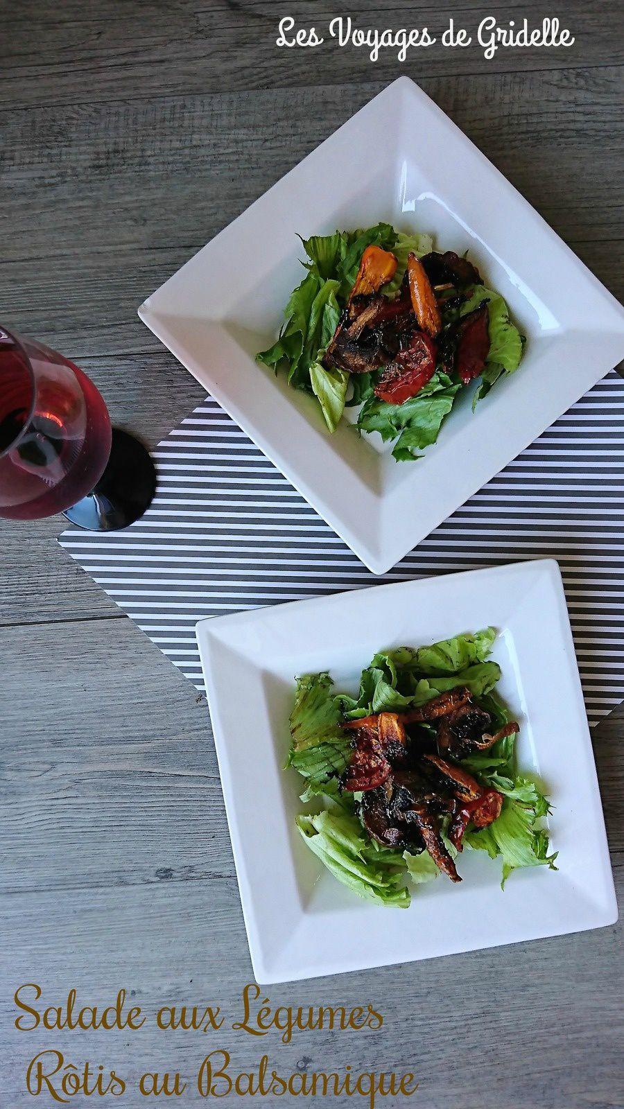 Salade aux Légumes Rôtis au Balsamique
