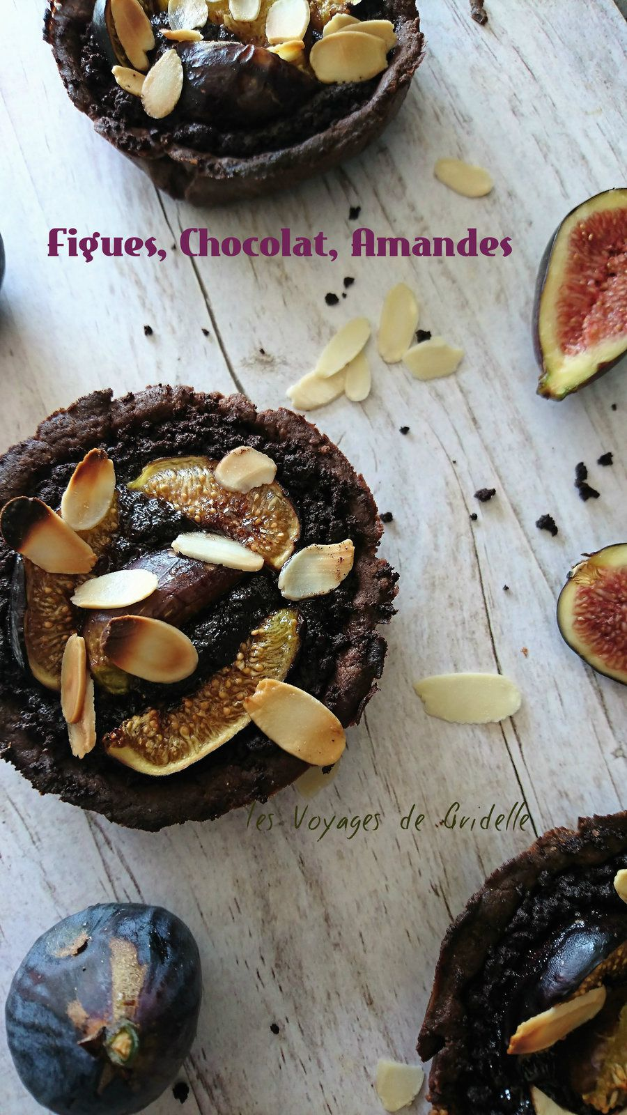 Tartelettes aux Figues Amande et Chocolat (sans lactose)