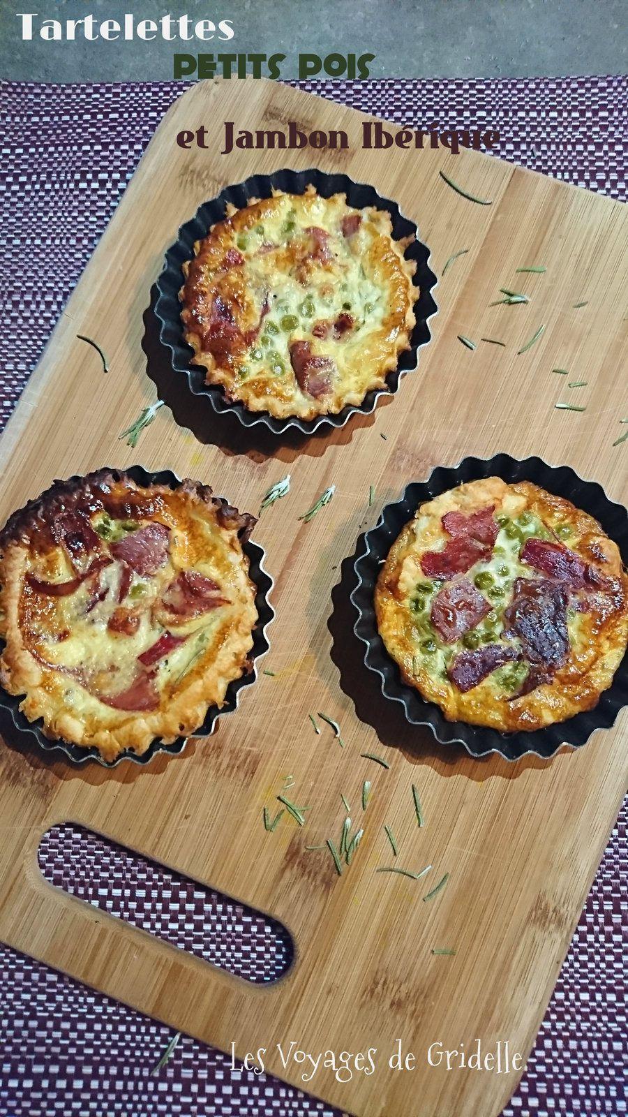 Tartelettes Petits Pois et Jambon Ibérique