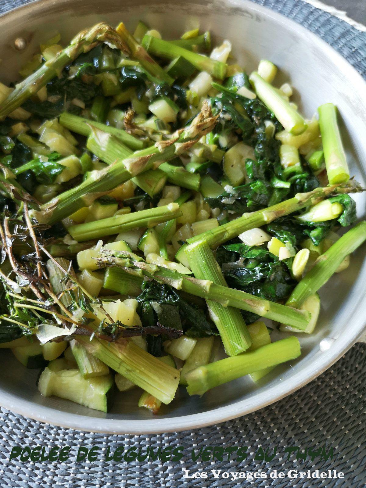Poelée de Légumes Verts au Thym - Les Voyages de Gridelle