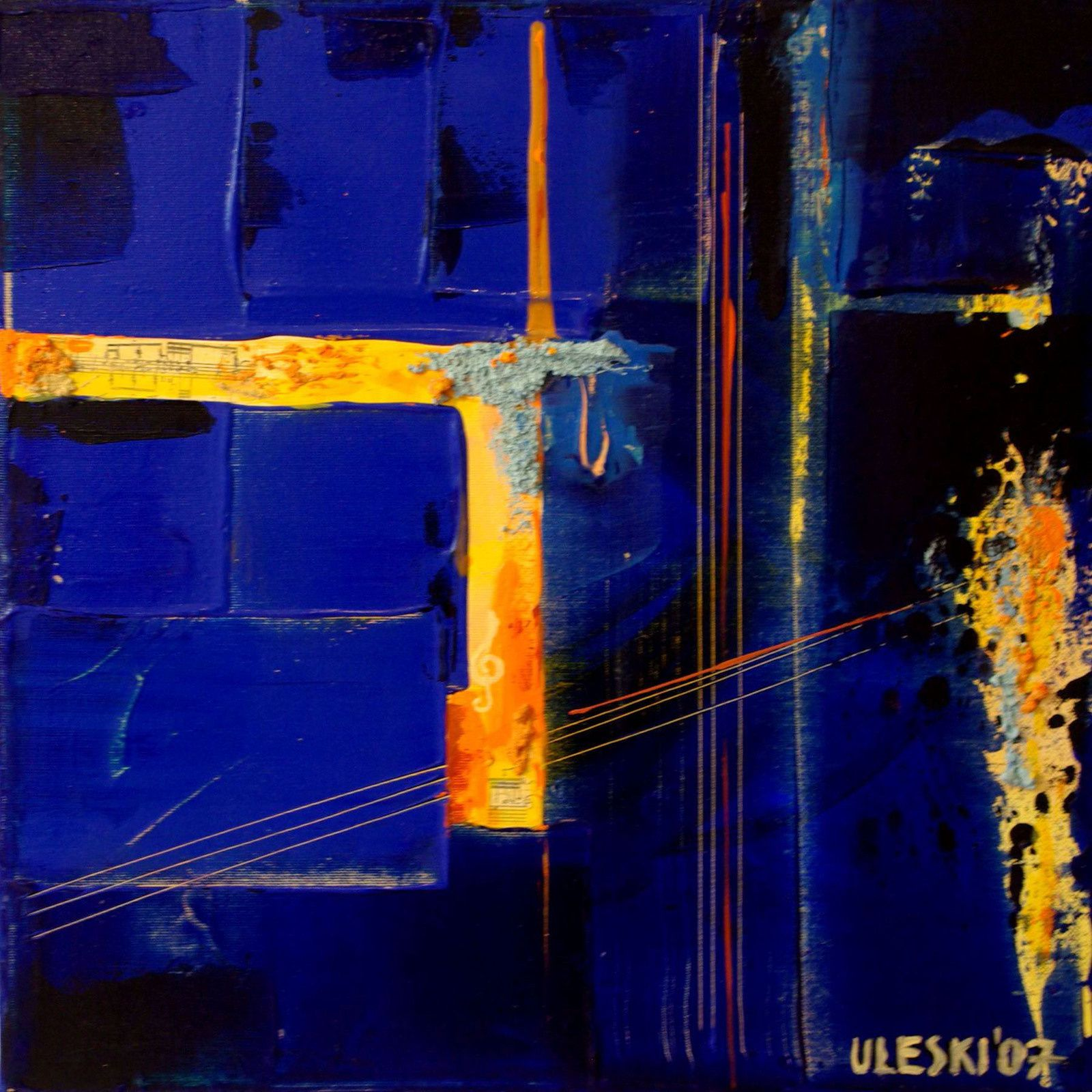 Uleski improvisations 1 4 ursula uleski artiste for Peinture contemporaine abstraite