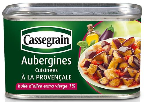 Test des aubergines cuisinées à la provençale Cassegrain