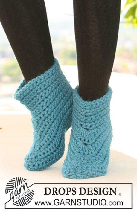 Patrons gratuits des chaussettes au crochet (2)