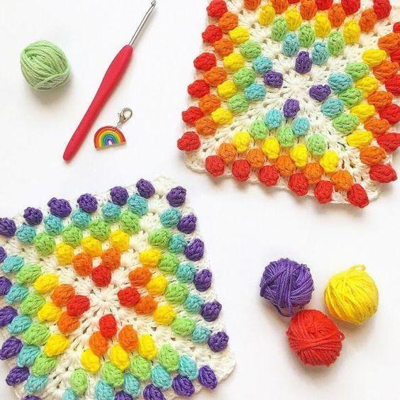 Crochet : Carré 99 et 100