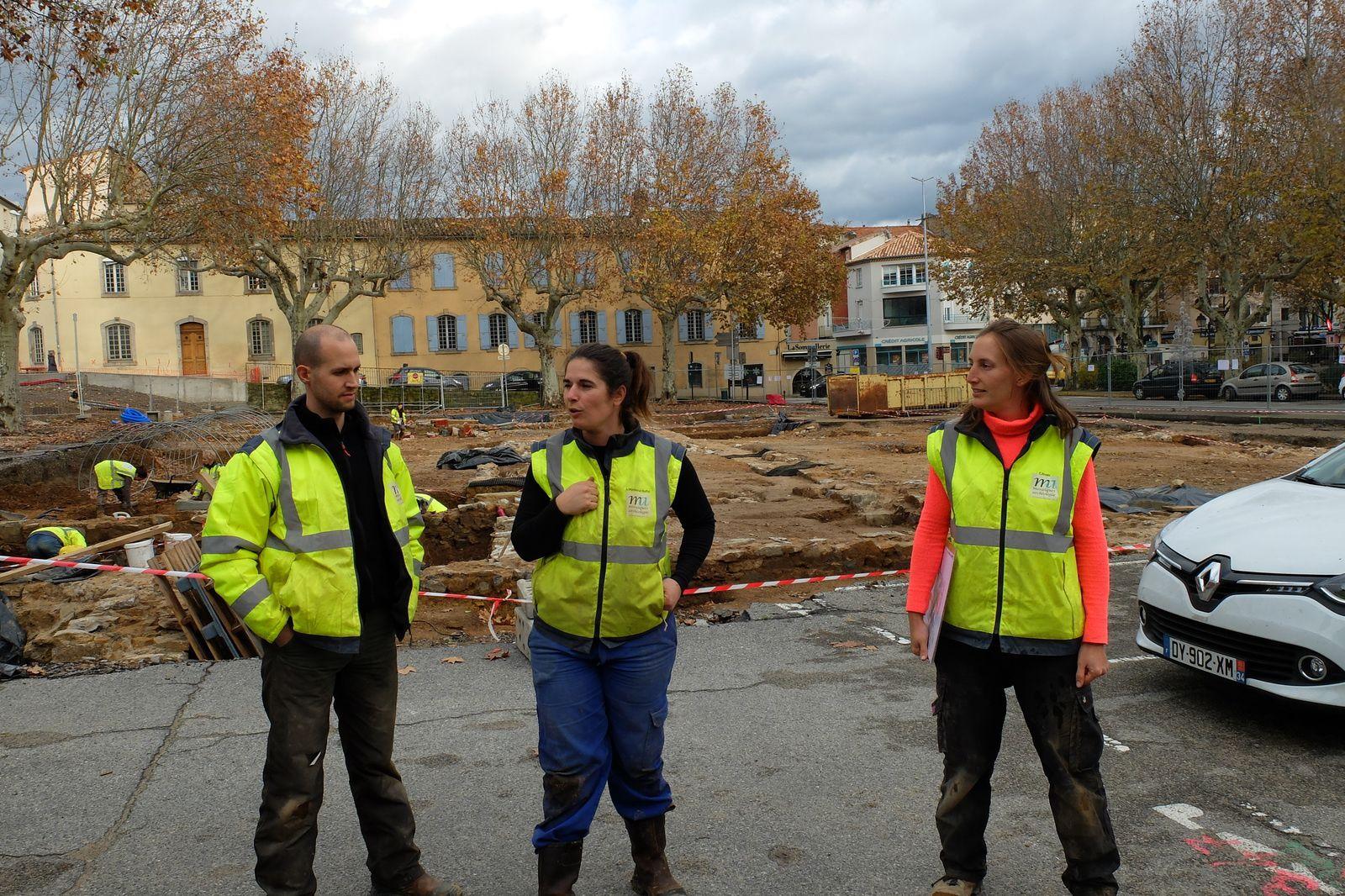 Parcours Défense et Patrimoine : Visite d'un chantier de fouilles