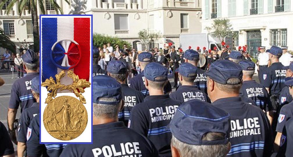 Médaille d'or pour la police municipale de Nice