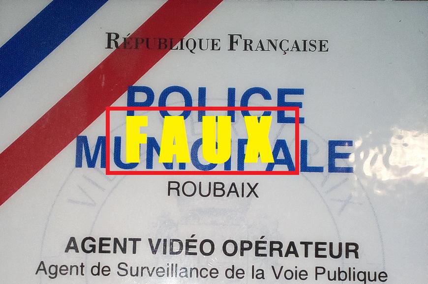 Roubaix : des fausses cartes de Police Municipale délivées aux ASVP ?