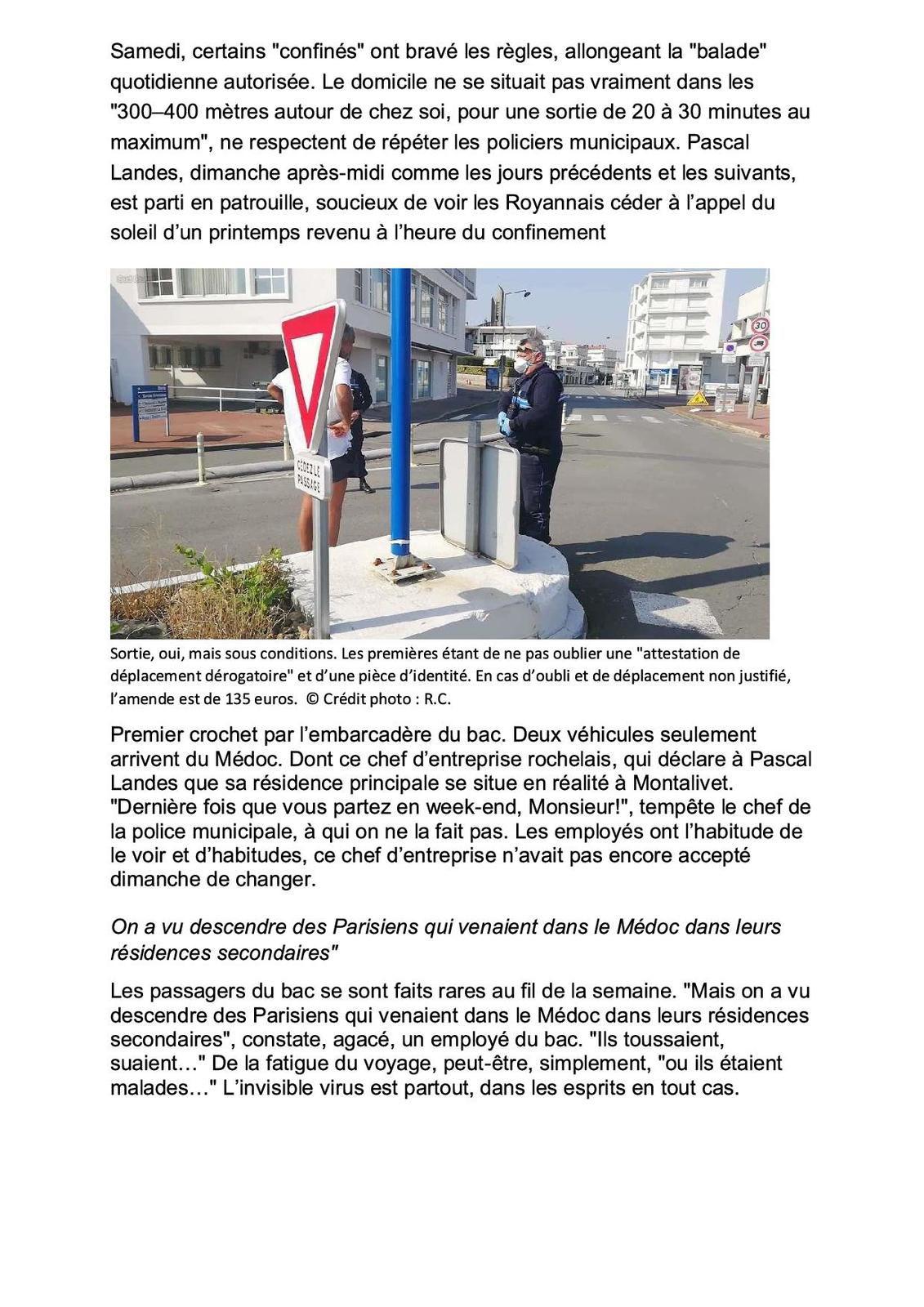 [VIDEO] Reportage avec la Police Municipale de Royan(17) - Confinement