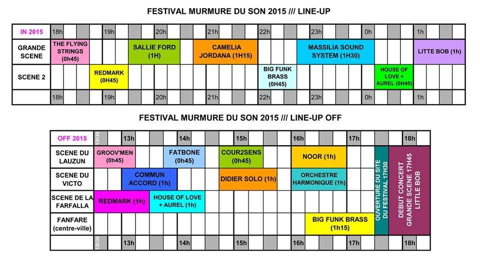 Festival le Murmure du son 10/11 juillet 2015