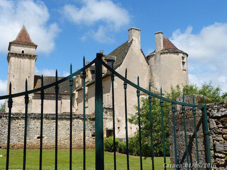 Dans la cour du château se trouve un puits en partie creusé dans le roc, et couvert par un toit conique.