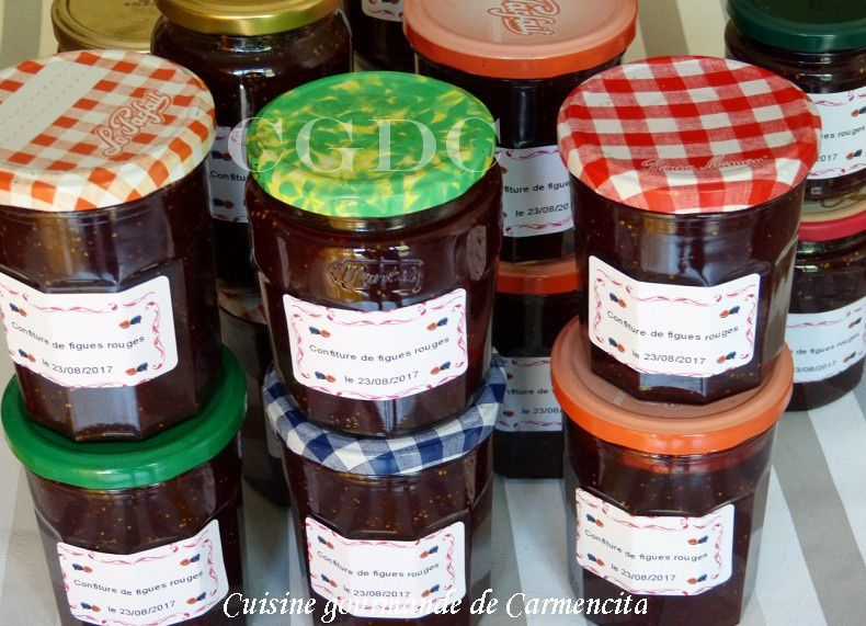 Confiture de figues rouges