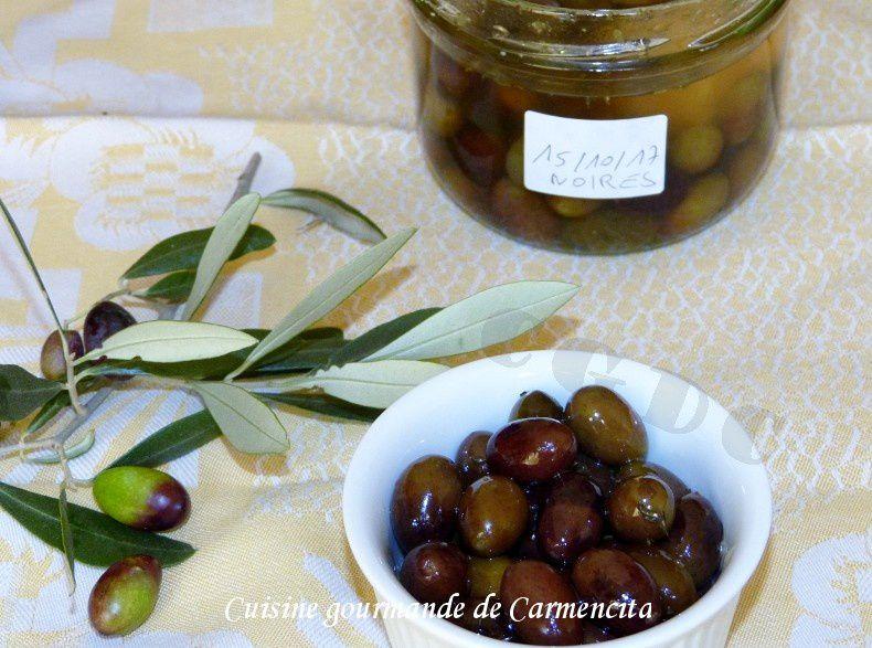 Préparation des olives en saumure