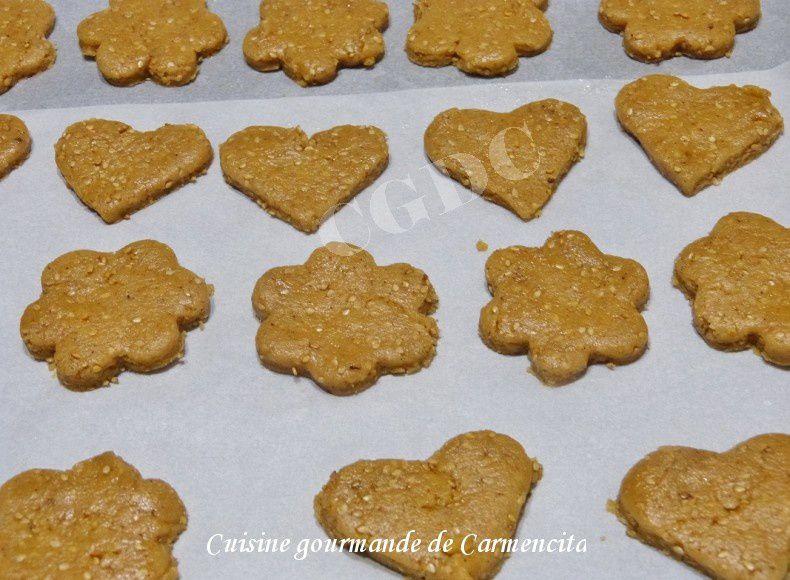 Biscuits à la crème de sésame ou tahini