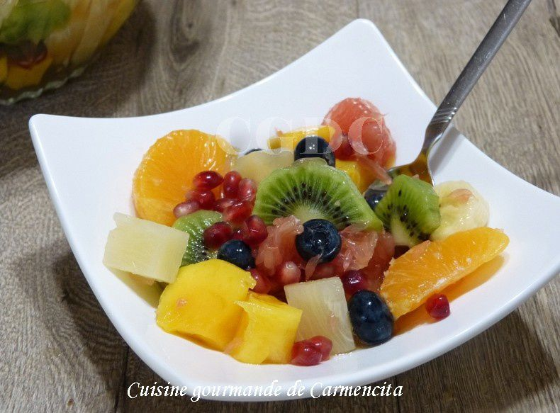 Salade de fruits au Limoncello
