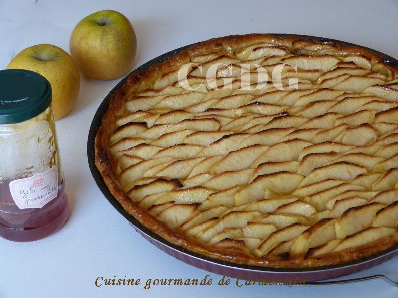 Tarte aux pommes et crème pâtissière au citron