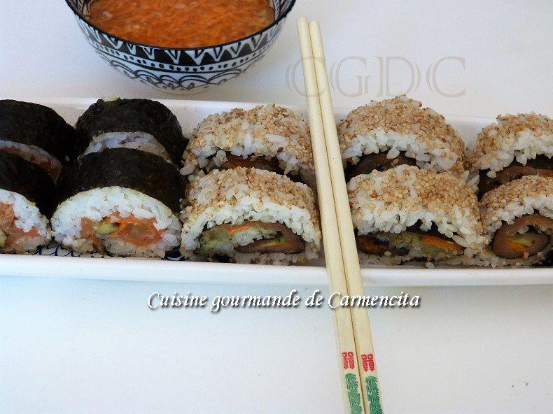 Sushi Maki inversé California roll