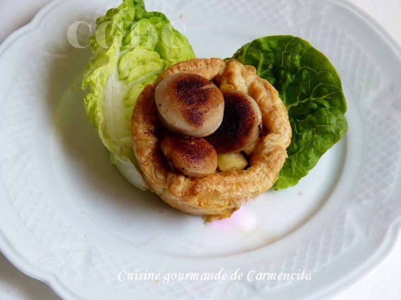 boudin blanc truffé aux pommes et confit d'oignon au balsamique