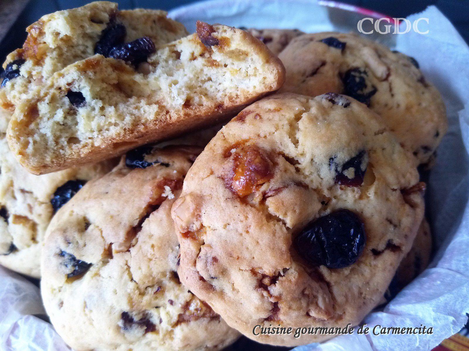 Cookies aux cranberries et noix de cajou caramélisées
