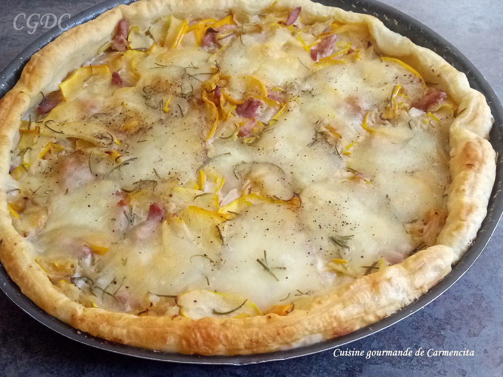 Tarte aux courgettes jaunes mozzarella et parmesan